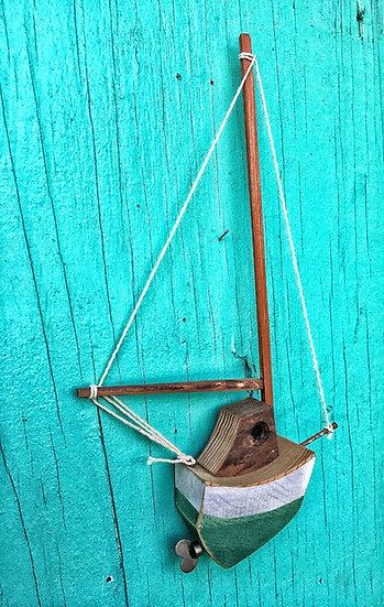 Wee sailboat