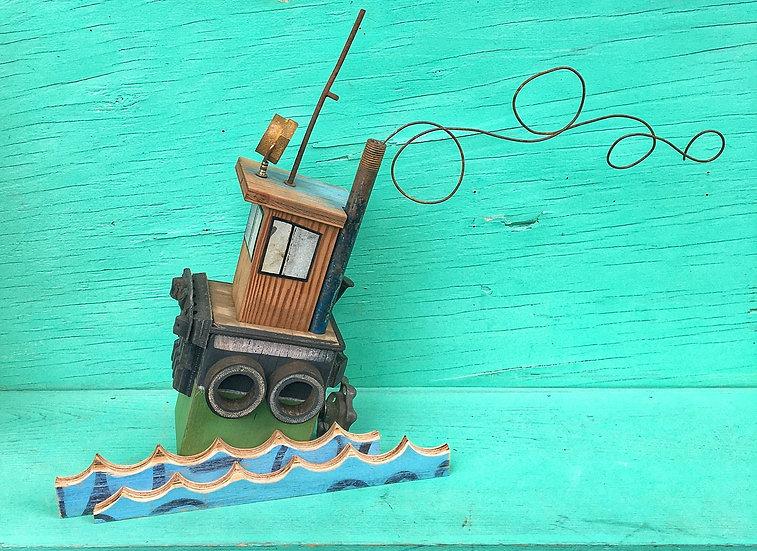 Rustic tugboat