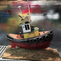 Cates XIX completed ✅ #tugboat_lovers #tugboats #catestugs #reclaimedmaterials #bctugboats #tugboats