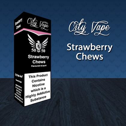 City Vape E-liquid 10ml 50/50 - Strawberry Chews