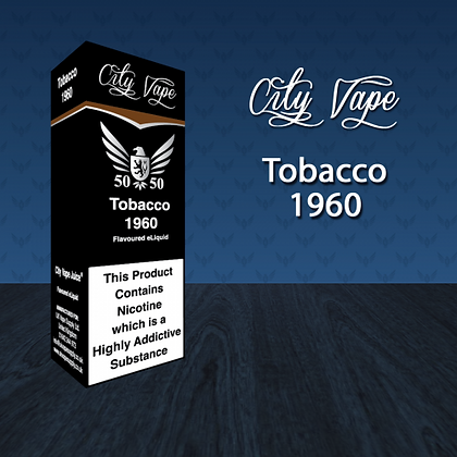 City Vape E-liquid 10ml 50/50 - Tobacco 1960