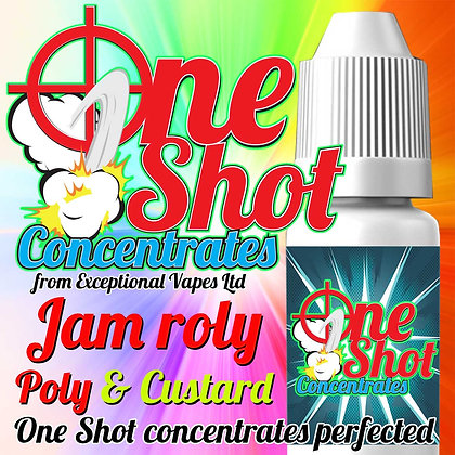 Jam roly poly & custard one shot e-liquid flavour concentrate 30ml