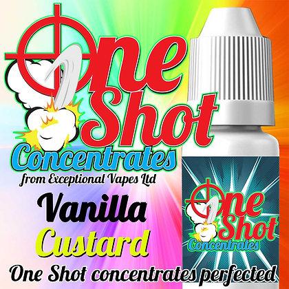 Vanilla custard one shot e-liquid flavour concentrate 30ml