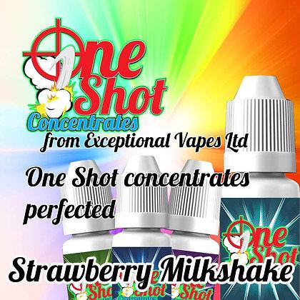 Strawberry Milkshake one shot e-liquid flavour concentrate 30ml
