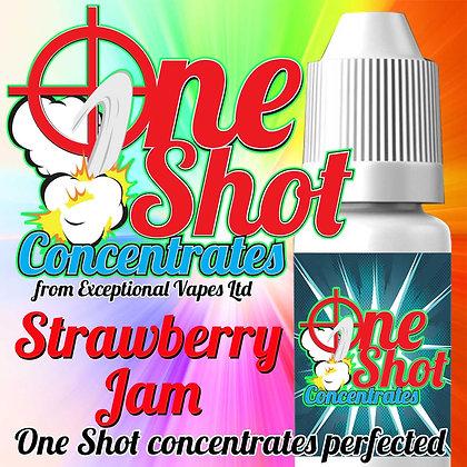 Strawberry jam one shot e-liquid flavour concentrate 30ml