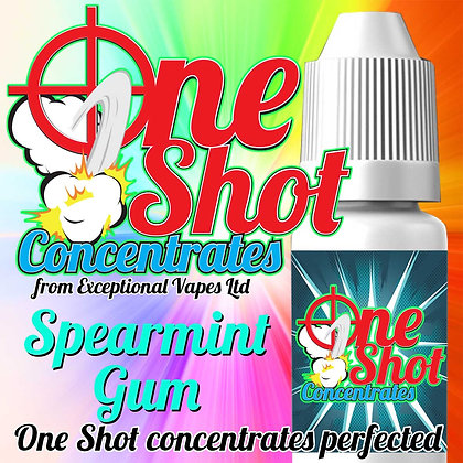 Spearmint gum one shot e-liquid flavour concentrate 30ml