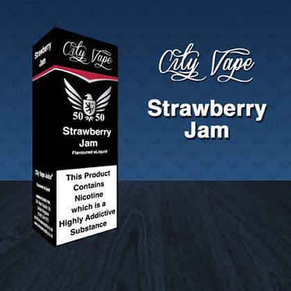 City Vape E-liquid 10ml 50/50 - Strawberry Jam