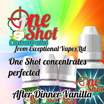 After dinner vanilla one shot e-liquid flavour concentrate 30ml