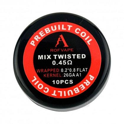 Rofvape Prebuilt Mix Twisted Prebuilt Coils 0.45 x 10 coils