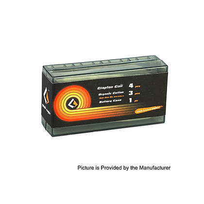 Geekvape 26ga+32ga Clapton Coil Organic Cotton Battery Case (3 in 1)