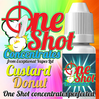 Custard Donut one shot e-liquid flavour concentrate 30ml
