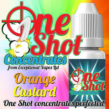 Orange custard one shot e-liquid flavour concentrate 30ml