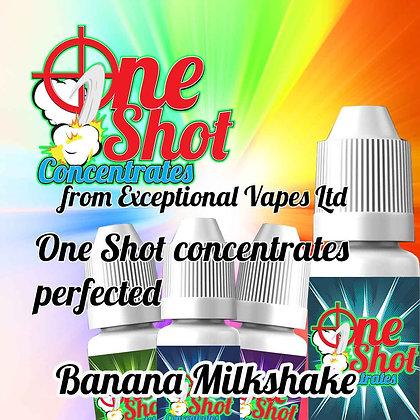 Banana Milkshake one shot e-liquid flavour concentrate 30ml