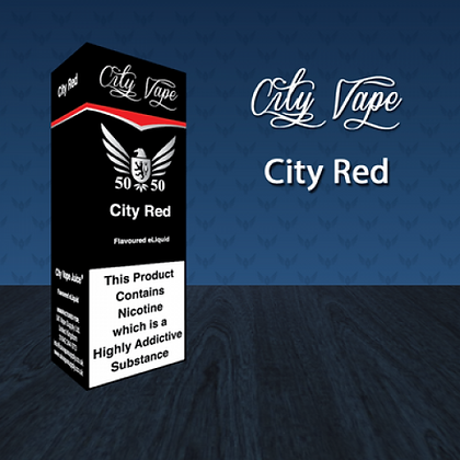 City Vape E-liquid 10ml 50/50 - City Red