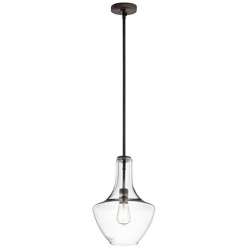 Kichler lighting - Everly, Pendant, 1 Light, 100 Watts, Olde Bronze