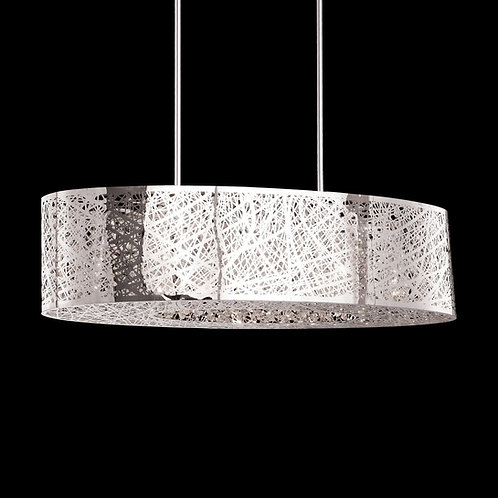 7LT Oval Chandelier Crystal w/ Floral Pattern, PC (2K477)