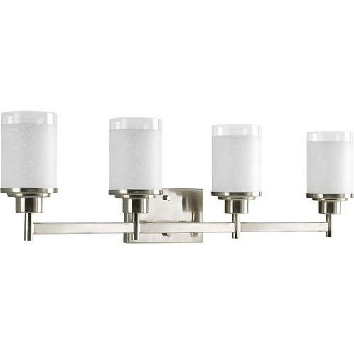 Progress Lighting  Alexa Collection 4-Light Vanity Fixture, Brushed Nickel