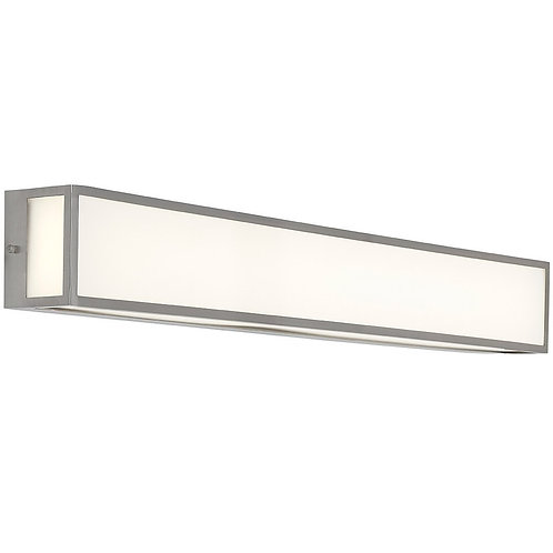 H.H Modern Vanity Light | Frosted LED Brushed Nickel Wall Mounted Lighting