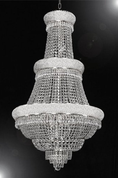 """F.E CRYSTAL CHANDELIER LIGHTING H50"""" X W30"""" - PERFECT FOR AN ENTRYWAY"""
