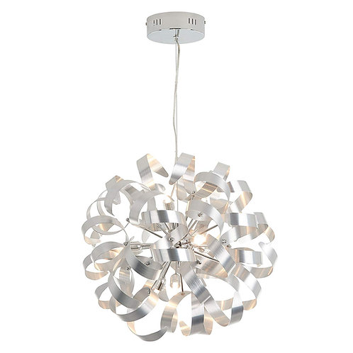A&A | Ribbons Chrome 12 Integrated LED light Chandelier