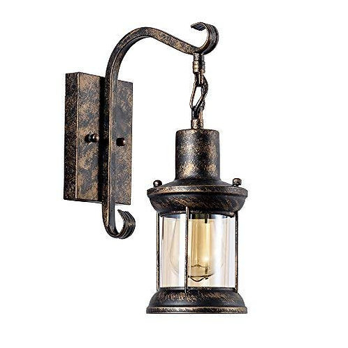 GLFT - Vintage Single Light Oil-Rubbed Bronze Wall Sconce