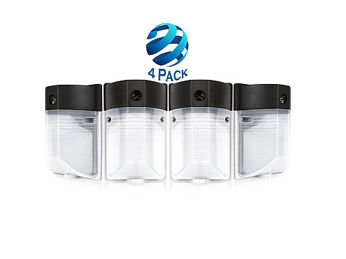 LED PHOTOCELL Wall Pack, 5000K (4 Pack), 100W