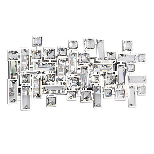Crystal Paradigm 4 Light Bathroom Vanity Lights in Polished Chrome 4 Lights 18""