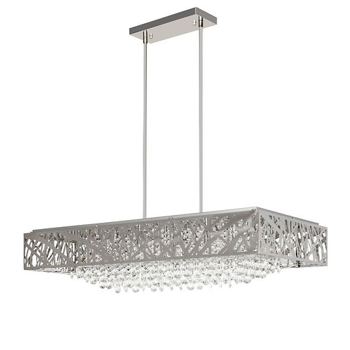 Finesse Decor FN-1151 Chrome and Crystal Dining / Island Chandelier