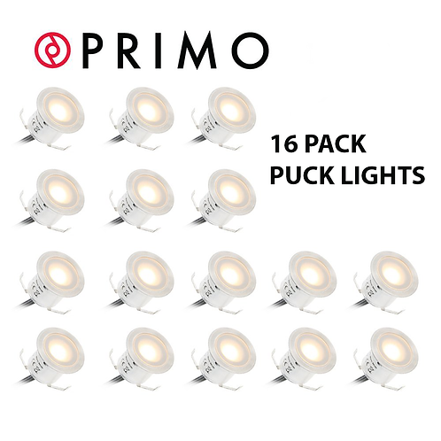 Primo 16 LED Deck Light Water-proof IP67 In Ground Outdoor Landscape
