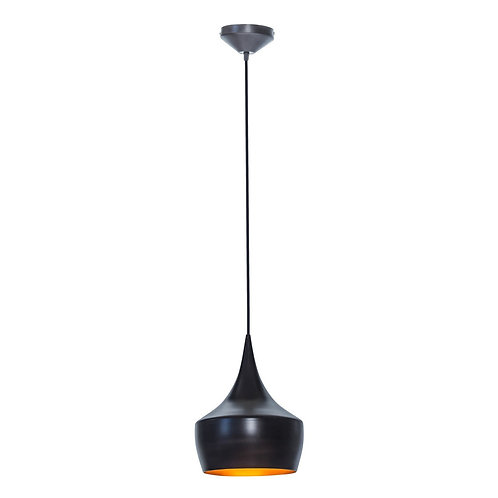 Globe Electric 63871 Flo 1 Lamp Hanging Pendant Light Fixture, Oil Rubbed Bronze