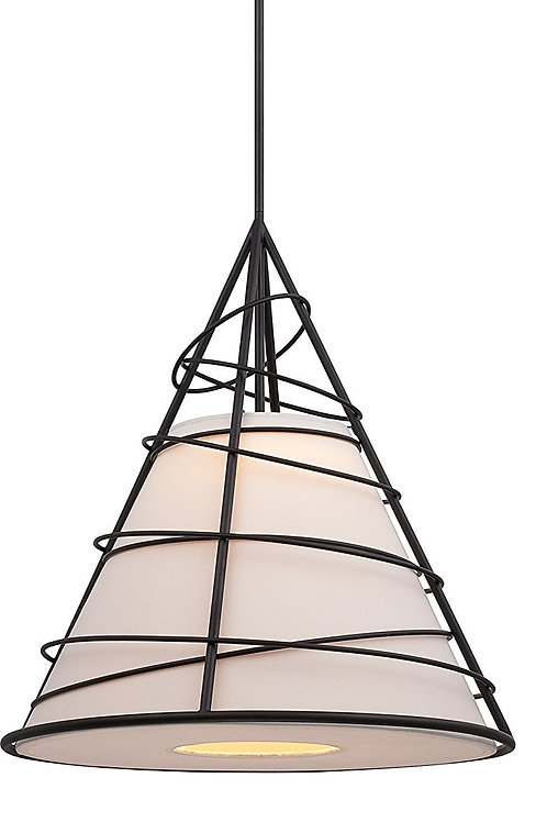 Nuvo - Toro LED Cone Pendant with Jute Fabric Shade