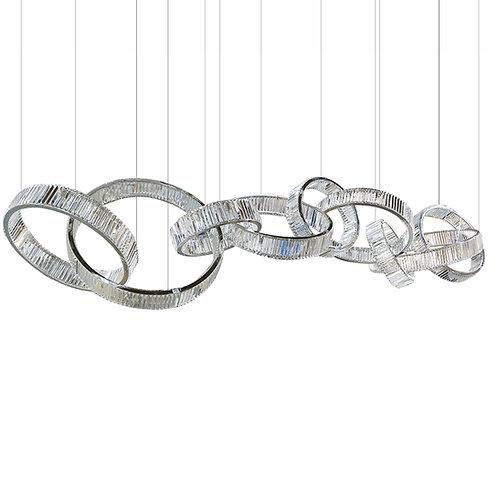 Ring of Life - K9/Swarovski Crystals LED Chandelier 9 Ring
