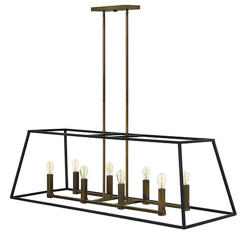 Hinkley Fulton - Eight Light Rectangular Foyer, Bronze Finish