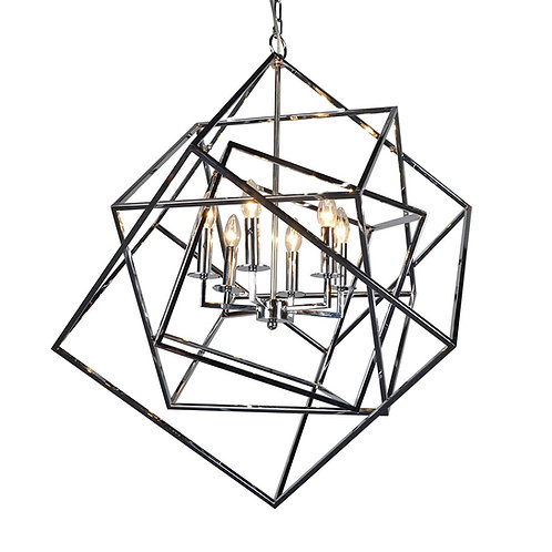 Aztec - Modern Transitional Square Mirage 6 light