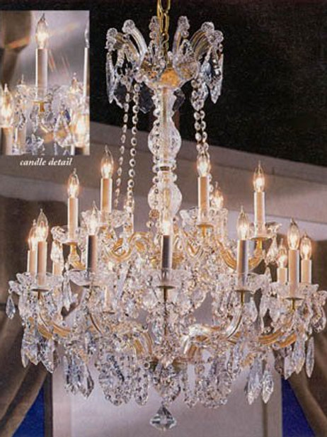 "Maria Theresa Crystal Chandelier Chandeliers Lighting 30""X28"""