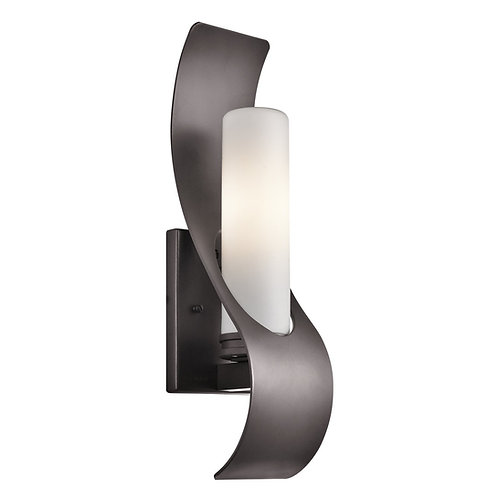 Kichler Lighting 49149AZ Zolder 1-Light 17-Inch Outdoor Wall Sconce