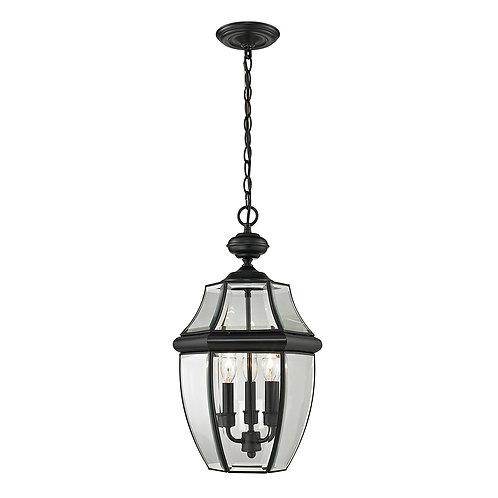 Illuminati Collection - Ashford Hanging Lantern, Large, Black Finish Outdoor