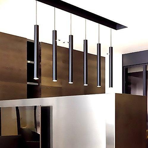 LUX - Pack of 3 Elegant Black 48cm Sleek Pendant Lights