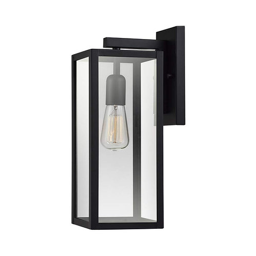 Globe Electric | Bowery 1-Light Outdoor Indoor Wall Sconce, Matte Black
