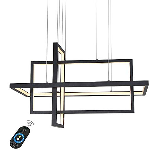 Aztec - 3 Tier overlay LED Black linear light fixture