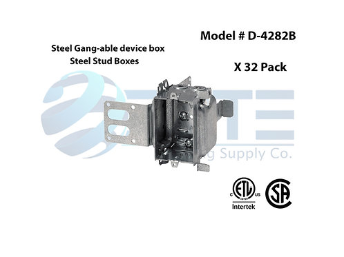 Steel Gang-able device box -Steel Stud boxes [32 Pack]