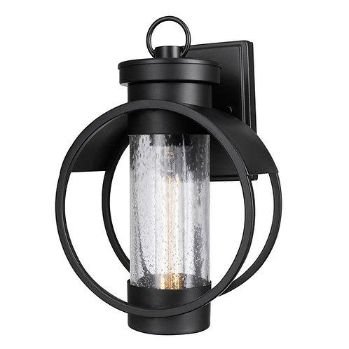 Balvin  -  signle  light Outdoor Wall Sconce, Globe Black