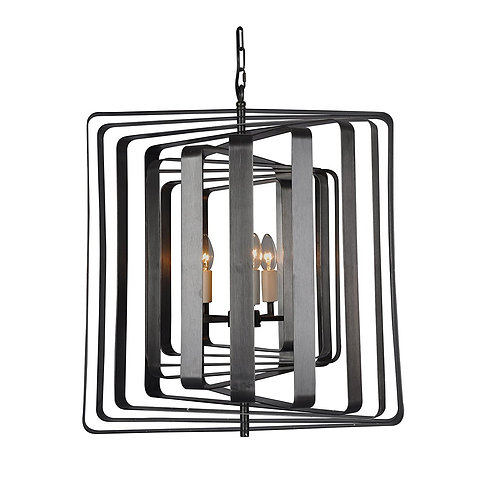 Torcia II - 4 Candle-Syle Chandelier Modern Aztec Mirage Cube
