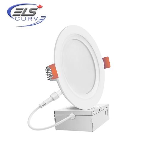 "ELS Curve Series - 4"" LED Slim Recessed 9W Lights 850lm 3CCT"