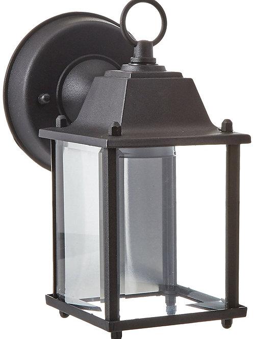 "Trans Globe Lighting 8"" 1-Light Outdoor Wall Lantern, Black"