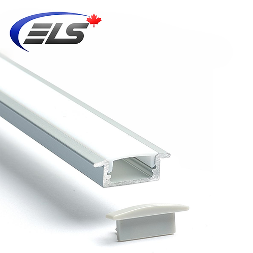 ELS Canada - 4' LED Recessed Channel | Frosted Lens | Aluminum Shell | Lip