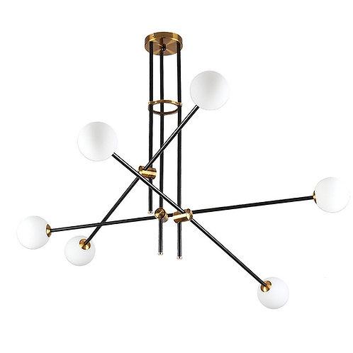 Loki - Modern Match 6 light glass sphere chandelier