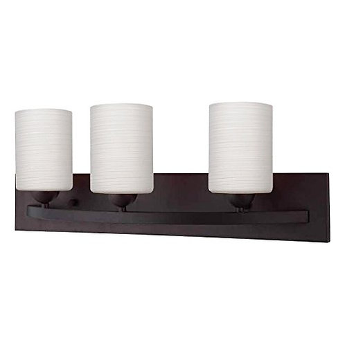 3 Bulb Vanity Light - Oil Rubbed Bronze Finish - Hampton Collection