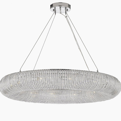 """Crystal Halo 60"""" Chandelier Contemporary Light Floating Orb Chandelier"""