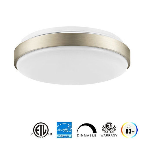 Sleek LED Flush-Mount 11 Inch 14W (100W Equivalent) Dimmable